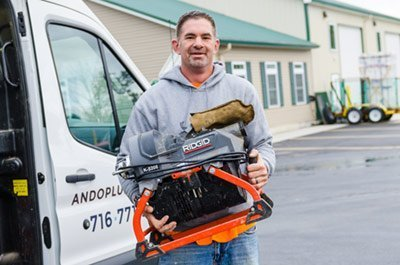 jim ando plumbing drain cleaning, buffalo ny